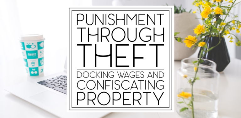 Punishment Through Theft: What is and isn't legal in the salon?