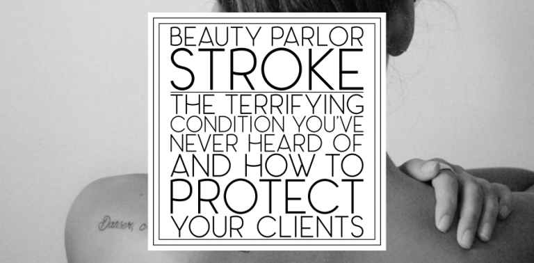 Beauty Parlor Stroke: Should we redesign our shampoo chairs?