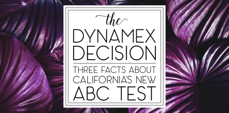 [2.5] Dynamex and the ABC Test