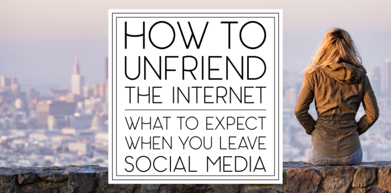 How to Unfriend the Internet